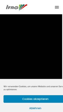 Vorschau der mobilen Webseite www.ifag-berlin.de, IFAG Institut für angewandte Gerontologie