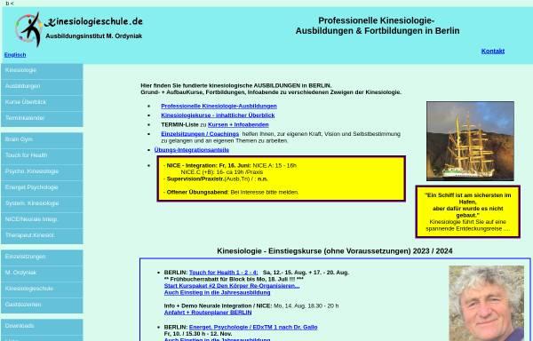 Vorschau von www.kinesiologieschule.de, Kinesiologieschule