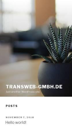 Vorschau der mobilen Webseite www.transweb-gmbh.de, Transweb GmbH - Weiterbildung und Beratung