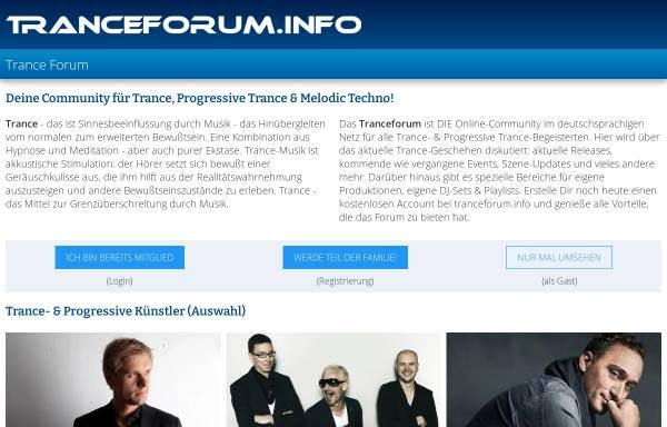 Vorschau von www.tranceforum.info, Tranceforum