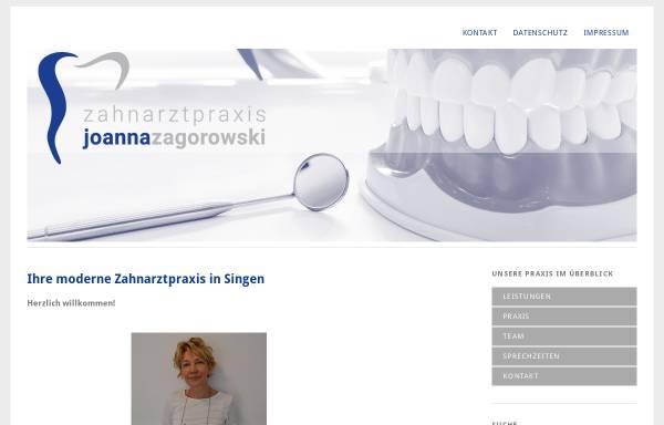 Vorschau von www.zahnarztpraxis-zagorowski.de, Zahnarztpraxis Joanna Zagorowski