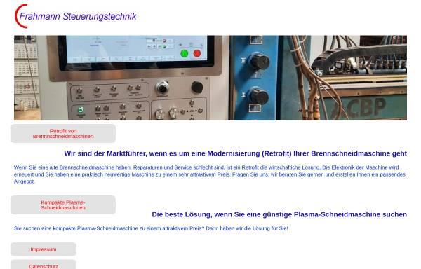 Vorschau von www.frahmann-steuerungstechnik.de, Frahmann Steuerungstechnik