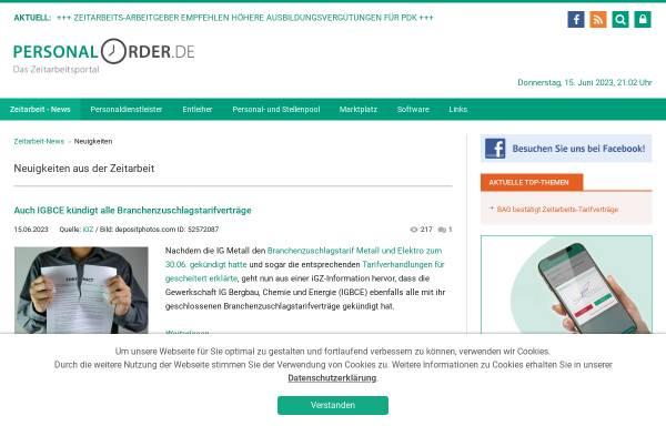 Vorschau von www.personalorder.de, Personalorder