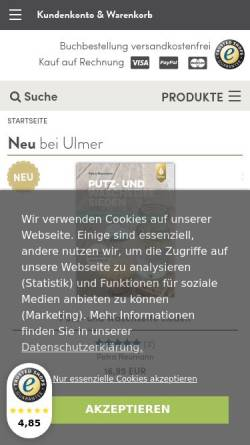 Vorschau der mobilen Webseite www.ulmer.de, Florieren!