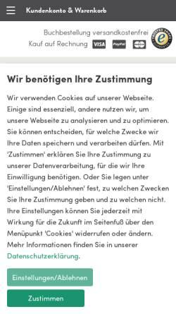 Vorschau der mobilen Webseite www.ulmer.de, Grüner Markt
