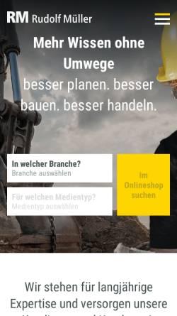 Vorschau der mobilen Webseite www.rudolf-mueller.de, Markt in Grün