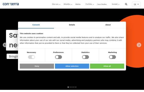 Vorschau von www.conterra.de, con terra GmbH