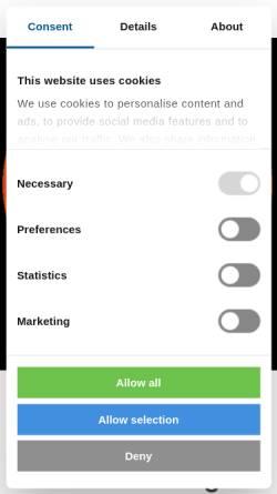 Vorschau der mobilen Webseite www.conterra.de, con terra GmbH
