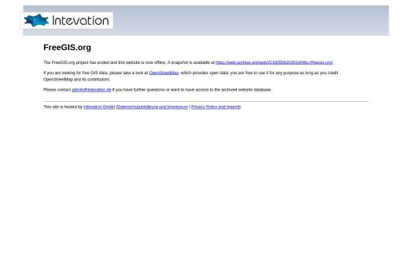 Vorschau von freegis.org, FreeGIS
