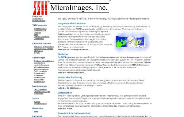 Vorschau von www.microimages.de, MicroImages, Inc.