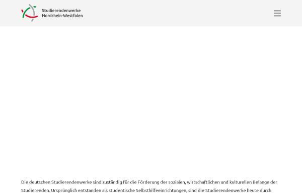Vorschau von www.studentenwerke-nrw.de, Studentenwerke in NRW