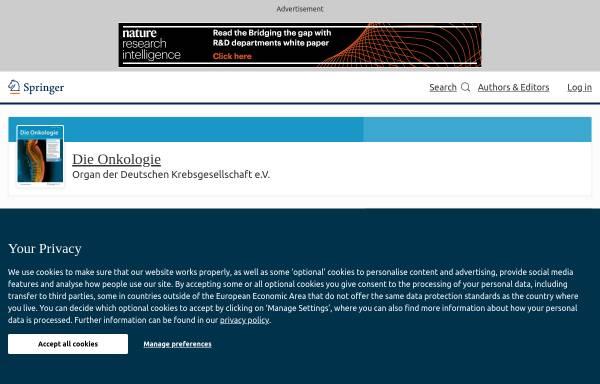 Vorschau von www.springer.com, Der Onkologe