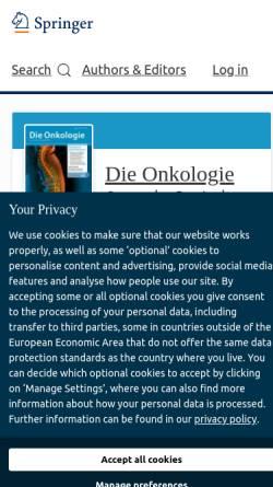 Vorschau der mobilen Webseite www.springer.com, Der Onkologe