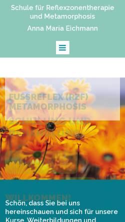 Vorschau der mobilen Webseite fussreflex-rzf.ch, Eichmann, Anna Maria - Reflexzonentherapie