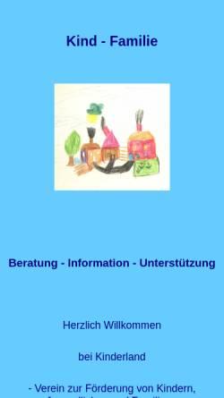 Vorschau der mobilen Webseite www.kind-familie.de, Kind und Familie - Beratung und Information