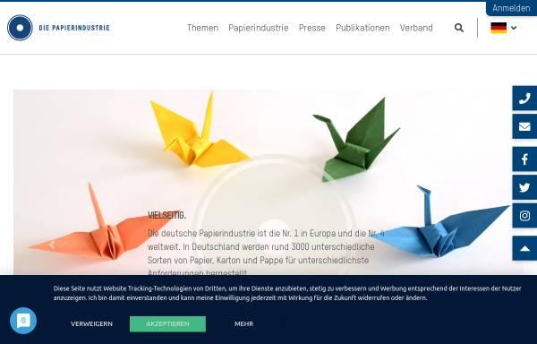 Vorschau von www.vdp-online.de, VDP, Verband Deutscher Papierfabriken e.V.