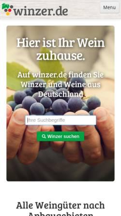 Vorschau der mobilen Webseite www.winzer.de, Die Winzerwein-Zeitung