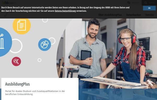 Vorschau von www.ausbildungplus.de, AusbildungPlus