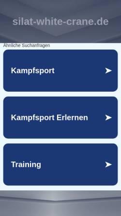 Vorschau der mobilen Webseite www.silat-white-crane.de, PGB Bangau Putih - Indonesisches Kung-Fu
