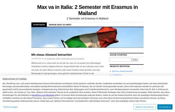 Vorschau von missionmilan.wordpress.com, Max va in Italia: 2 Semester mit Erasmus in Mailand