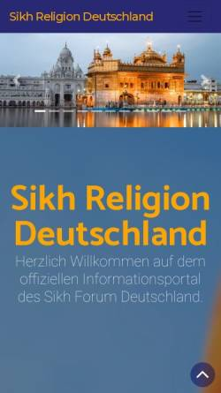 Vorschau der mobilen Webseite www.sikh-religion.de, Sikh-Forum Deutschland