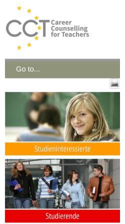 Vorschau der mobilen Webseite www.cct-germany.de, CCT-Laufbahnberatung für Lehrerinnen und Lehrer