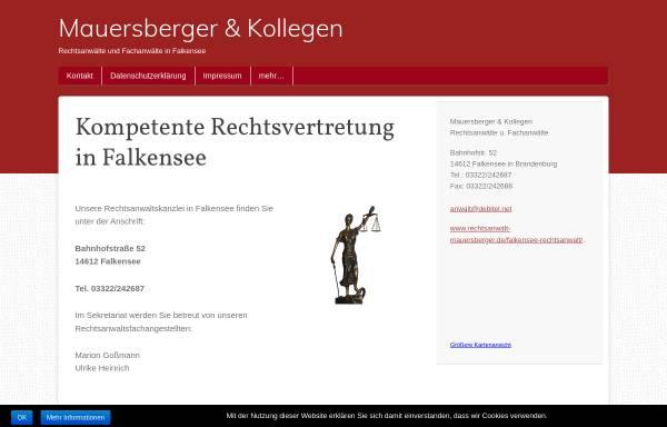 Vorschau von falkensee-rechtsanwalt.de, Rechtsanwaltskanzlei Mauersberger, Brehmel, Traupe
