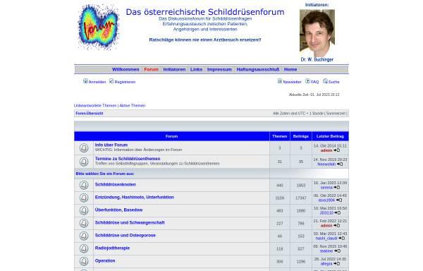Vorschau von www.schilddruesenforum.at, Schilddrüsenforum Österreich