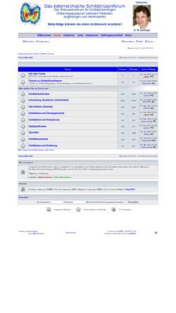 Vorschau der mobilen Webseite www.schilddruesenforum.at, Schilddrüsenforum Österreich