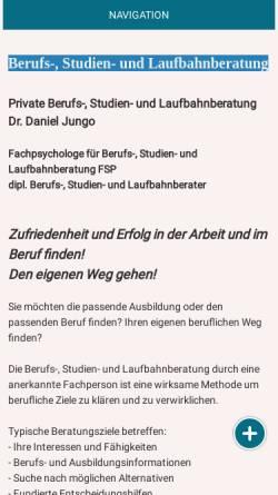 Vorschau der mobilen Webseite www.danieljungo.ch, Laufbahnberatung Daniel Jungo