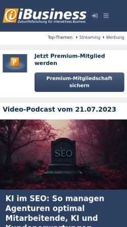 Vorschau der mobilen Webseite www.ibusiness.de, Der Kiosksystem Markt aktuell