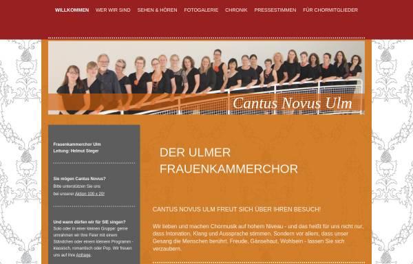Vorschau von www.cantusnovus.de, Cantus Novus