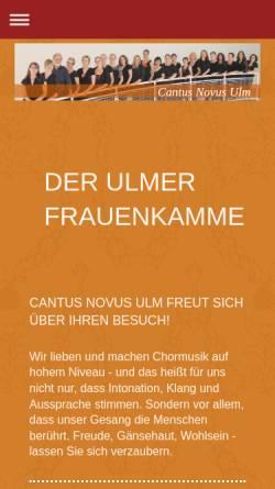 Vorschau der mobilen Webseite www.cantusnovus.de, Cantus Novus