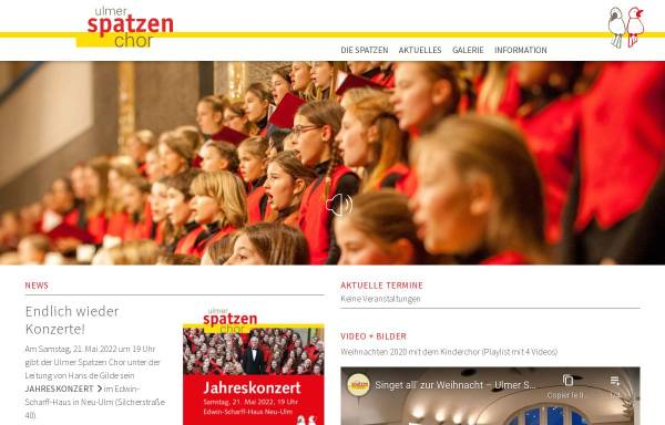 Vorschau von www.ulmer-spatzen-chor.ulm.de, Ulmer Spatzen Kinder- und Jugendchor