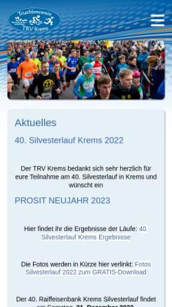 Vorschau der mobilen Webseite www.kremstriathlon.at, Kremstriathlon