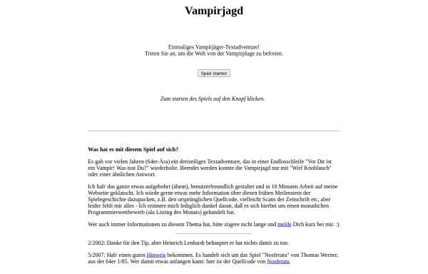 Vorschau von www.karoshi.org, Vampirjagd