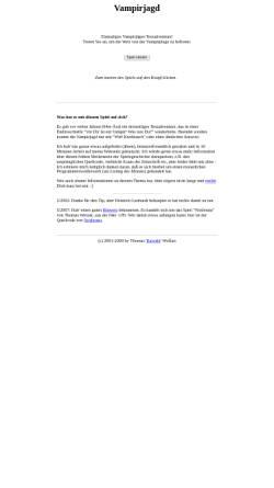 Vorschau der mobilen Webseite www.karoshi.org, Vampirjagd