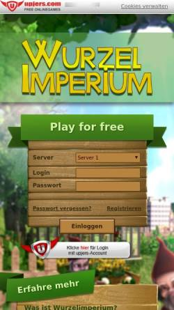 Vorschau der mobilen Webseite www.wurzelimperium.de, Wurzelimperium