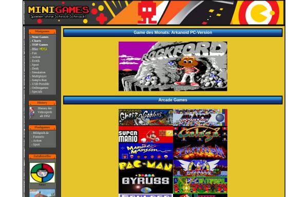 Vorschau von www.minigames.de, Minigames.de