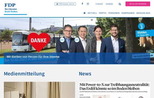 Vorschau von www.fdp-bezirk-dietikon.ch, FDP Bezirk Dietikon
