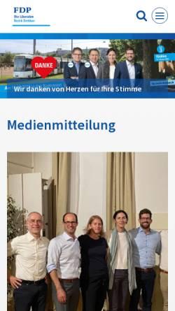 Vorschau der mobilen Webseite www.fdp-bezirk-dietikon.ch, FDP Bezirk Dietikon