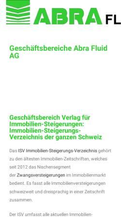 Vorschau der mobilen Webseite www.abra-fluid.ch, ABRA Fluid AG