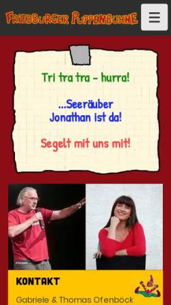 Vorschau der mobilen Webseite kasperl.at, Friedburger Puppenbühne