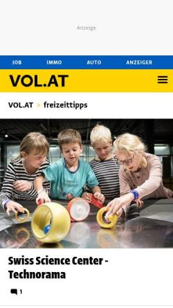 Vorschau der mobilen Webseite www.vorarlberg.com, Vorarlberg Online