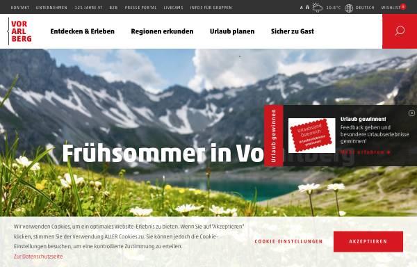 Vorschau von www.vorarlberg.travel, Vorarlberg Tourismus