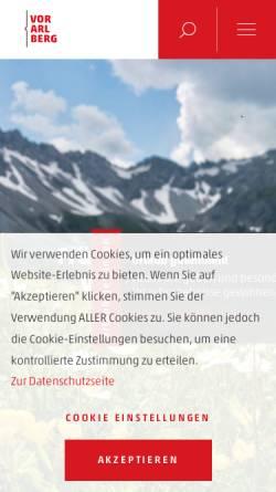 Vorschau der mobilen Webseite www.vorarlberg.travel, Vorarlberg Tourismus