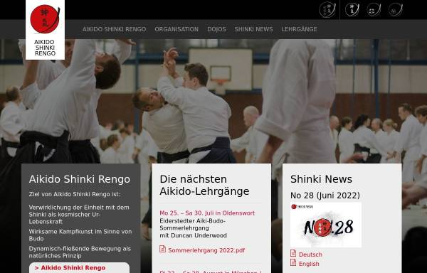 Vorschau von www.shinkirengo.de, Aikido Shinki Rengo