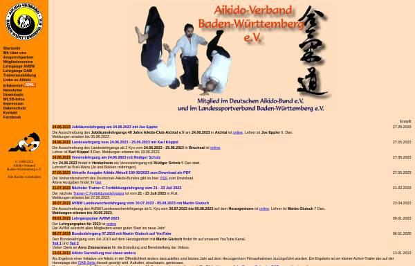 Vorschau von www.aikido-avbw.de, Aikido-Verband Baden-Württemberg e.V.