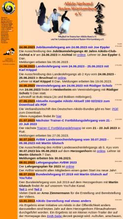 Vorschau der mobilen Webseite www.aikido-avbw.de, Aikido-Verband Baden-Württemberg e.V.