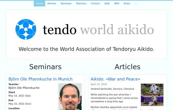 Vorschau von www.tendoryu.com, Tendoryu-Aikido Verband Deutschland e.V.
